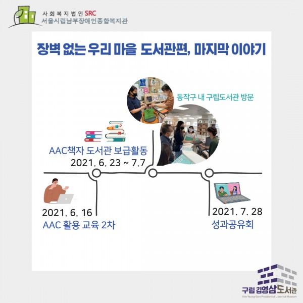6월16일 AAC활용교육2차, 6월23일~7월7일 AAC보급활동, 7월28일 성과공유회
