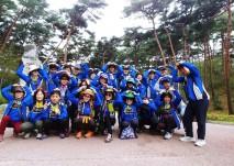 수목원 입구에서 동아리 회원분들의 단체 사진
