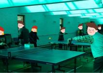 탁구 동아리 활동 모습